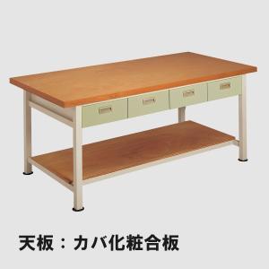 <お取り寄せ品※代引きキャンセル不可> 工作台 MT-211-K 天板:カバ化粧合板 【 工作台 机 木製 図工室 美術室 】|artloco