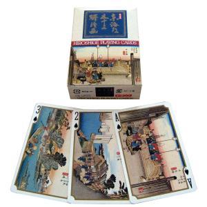 広重の 浮世絵 東海道五十三次 トランプ 【 昔 おもちゃ 玩具 】|artloco