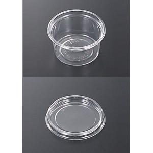 <在庫処分> 透明PET CP-A丸カップ 蓋つき φ66mm 50個セット  中央化学【 収納 パーツ 小分け 】|artloco