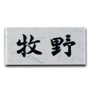 表札 大理石表札 石表札 戸建 薄雲大理石 彫り込み a01|artmark