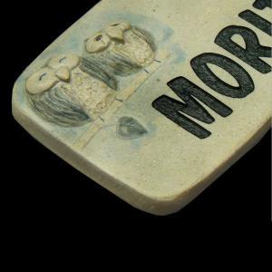 表札 陶器表札 戸建 フクロウ M01   artmark