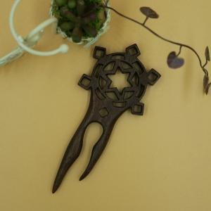 木製 かんざし 透かし彫り くるみ材 |artnob