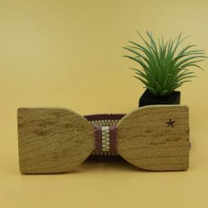 木製チョウネクタイ スターシリーズ Mサイズ バーズアイメイプル材|artnob