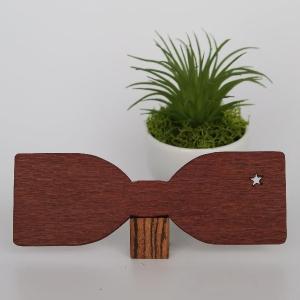 木製 チョウネクタイ スターシリーズ レースウッド材スリム型 真田紐木綿平織15mm |artnob