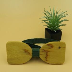 木製チョウネクタイ スターシリーズ Mサイズ イエローハート材|artnob