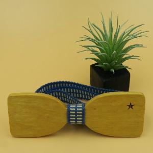 木製チョウネクタイ スターシリーズ Sサイズ イエローハート材|artnob
