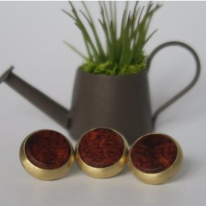 木製 ピストンボタン Y型 花梨コブ材 artnob