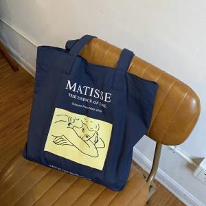 ネコポス送料無料  Henri Matisse トートバッグ ネイビー キャンバス地【art of black】|artofblackshop