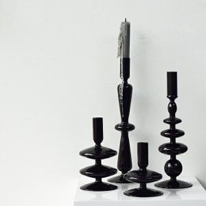 ガラス キャンドルスタンド ブラック 全7種類 【art of black】|artofblackshop