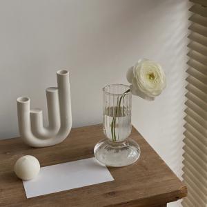 モールガラス フラワーベース 花瓶 【art of black】|artofblackshop