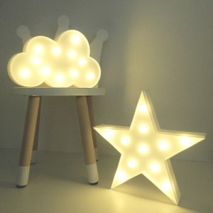 LEDライト 星 雲 ホワイト 置物 壁掛け 単3電池2本使用 スター クラウド【art of black】|artofblackshop