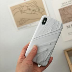 ネコポス送料無料 Stucco ホワイト iPhoneケース TPU素材 【art of black】|artofblackshop