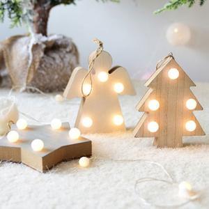 木製 LEDライト オブジェ ツリー 単3電池使用 ホワイト ウッド 卓上 置物【art of black】|artofblackshop