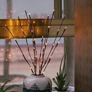 ネコポス送料無料 ブランチライト ツリーライト 2セット(10本分) LEDライト 単3電池使用  間接照明 【art of black】|artofblackshop