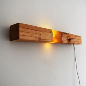 ウッド レジン ウォールライト ロング LEDライト USBケーブル付属 間接照明 天然木【art of black】|artofblackshop
