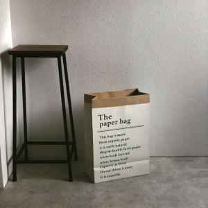 3枚セット ペーパーバッグ 両面同柄 英文 44×31cm ラッピング 鉢カバー【art of black】|artofblackshop
