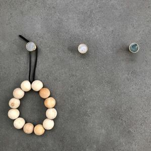 ネコポス送料無料 ウォールフック 真鍮 ゴールド 2cm マーブル 壁飾り 【art of black】 artofblackshop