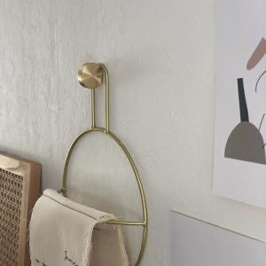 ネコポス送料無料 真鍮 ブラス ウォールフック タブレット 3.2cm×1cm×1.6cm 壁飾り 【art of black】 artofblackshop