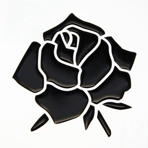 【3Dステッカー】薔薇ステッカー小サイズ〈全5色から〉|artpop-shop