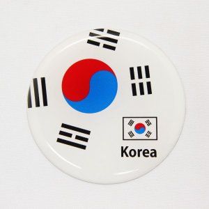 【3Dステッカー】国旗ステッカー 丸型Aタイプ〈アジア・オセアニア地区 7カ国〉 artpop-shop