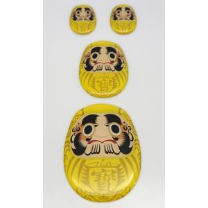 【3Dステッカー】商売繁盛!寶‐たから‐だるまステッカー〈大中小4個セット〉 artpop-shop