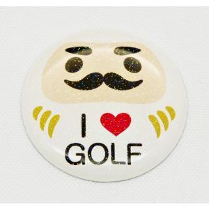 【3Dステッカー】ゴルフ運UP!祈願だるまシール 白色〈ラメ入り/全10タイプから〉 artpop-shop
