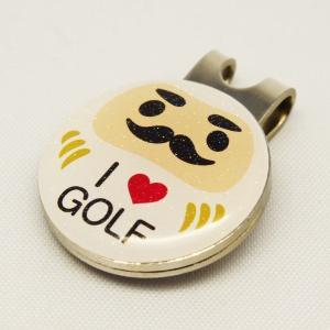 【ゴルフマーカー・グリーンマーカー】ゴルフ運UP!だるまゴルフマーカー 白色〈ラメ入り/全10タイプから〉|artpop-shop