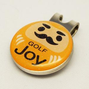 【ゴルフマーカー・グリーンマーカー】ゴルフ運UP!だるまゴルフマーカー 黄色〈ラメ入り/全10タイプから〉|artpop-shop