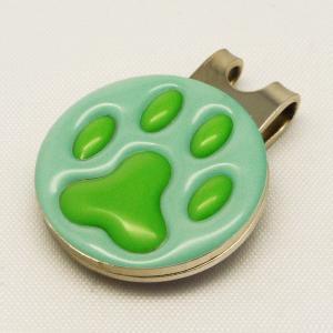 【ゴルフマーカー・グリーンマーカー】肉球 ゴルフマーカー 緑色タイプ〈全14色〉 artpop-shop