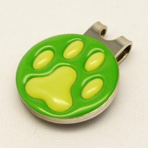 【ゴルフマーカー・グリーンマーカー】肉球 ゴルフマーカー 黄緑色タイプ〈全14色〉 artpop-shop