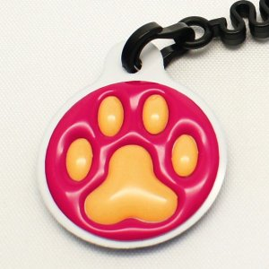 【クリーナーストラップ】肉球 携帯クリーナーストラップ オレンジ色タイプ〈全14色〉|artpop-shop