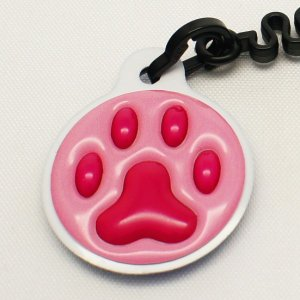 【クリーナーストラップ】肉球 携帯クリーナーストラップ チェリーピンク色タイプ〈全14色〉|artpop-shop