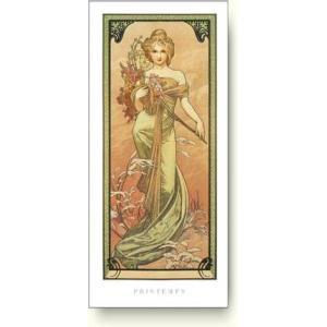 アートポスター アルフォンス ミュシャ 四季-春, 1900年 Alphonse Mucha: Printemps, 1900|artposters