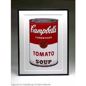 アンディ・ウォーホル キャンベルスープ缶トマト 額付ポスター Andy Warhol:Campbell's Soup I: Tomato, 1968【特価額装品】|artposters