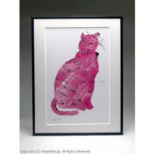 【出荷区分B】アンディ・ウォーホル ピンクのサム 額付ポスター Andy Warhol:Cat From