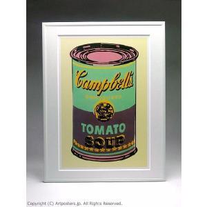 アンディ・ウォーホル キャンベルスープ缶(緑と紫) 額付ポスター Andy Warhol:Colored Campbell's Soup Can, 1965 (green & purple)|artposters|02
