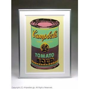 アンディ・ウォーホル キャンベルスープ缶(緑と紫) 額付ポスター Andy Warhol:Colored Campbell's Soup Can, 1965 (green & purple)|artposters|03