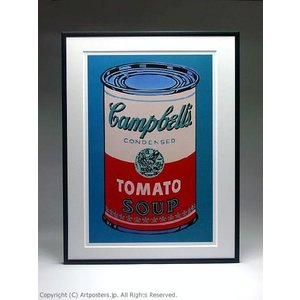 アンディ・ウォーホル キャンベルスープ缶(ピンクと赤) 額付ポスター Andy Warhol:Colored Campbell's Soup Can, 1965 (pink & red)|artposters