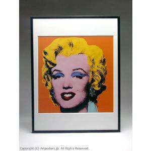 アンディ・ウォーホル ショット・オレンジ・マリリン 額付ポスター Andy Warhol:Shot Orange Marilyn, 1964【特価額装品】|artposters