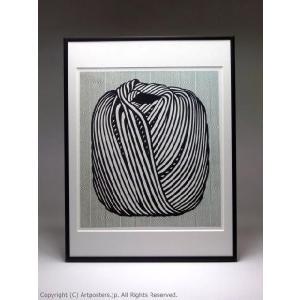 ロイ・リキテンスタイン 毛糸玉 額付ポスター Roy Lichtenstein:Ball of Twine, 1963|artposters