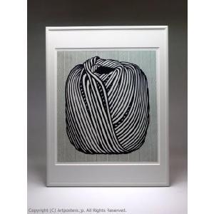 ロイ・リキテンスタイン 毛糸玉 額付ポスター Roy Lichtenstein:Ball of Twine, 1963|artposters|02