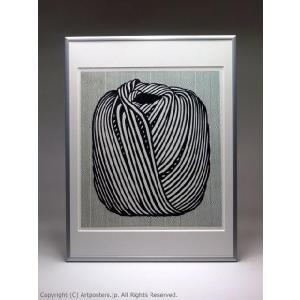 ロイ・リキテンスタイン 毛糸玉 額付ポスター Roy Lichtenstein:Ball of Twine, 1963|artposters|03