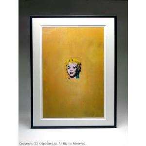 アンディ・ウォーホル 金色のマリリンモンロー 額付ポスター Andy Warhol: Gold Marilyn Monroe, 1962|artposters