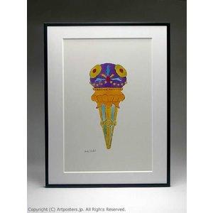 アンディ・ウォーホル アイスクリーム・デザート 紫 額付ポスター Andy Warhol: Ice Cream Dessert, c. 1959 (purple fancy)【特価額装品|artposters