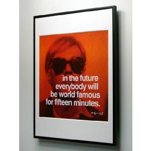 アンディ・ウォーホル 15分間 額付ポスター Andy Warhol: In the future everybody will be world famous for fifteen minutes 【特価額装品】|artposters