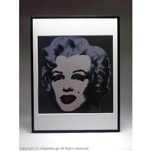 アンディ・ウォーホル マリリン(ブラック) 額付ポスター Andy Warhol:Marilyn Monroe (Marilyn), 1967 (black)【特価額装品】|artposters