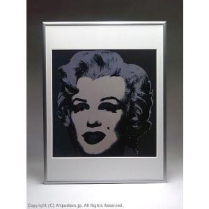 アンディ・ウォーホル マリリン(ブラック) 額付ポスター Andy Warhol:Marilyn Monroe (Marilyn), 1967 (black)【特価額装品】|artposters|03