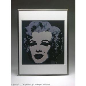 アンディ・ウォーホル マリリン(ブラック) 額付ポスター Andy Warhol:Marilyn Monroe (Marilyn), 1967 (black)【特価額装品】|artposters|05