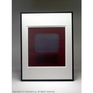 マーク・ロスコ ナンバー37 額付ポスター Mark Rothko:No. 37/No. 19 (Slate Blue and Brown on Plum), 1958|artposters