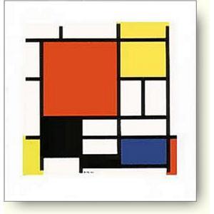 ピエト・モンドリアン 赤、黄、青、黒のコンポジション 【アートポスター】|artposters